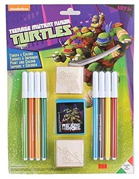 Multiprint 26884 - Juego 2 Sellos Tortugas Ninja: Amazon.es ...