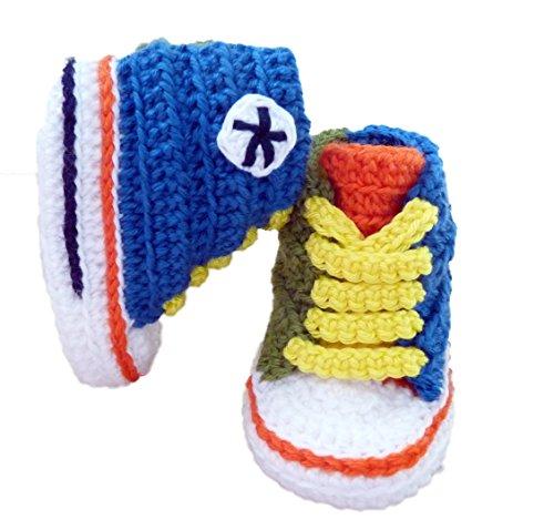 Converse Babysöckchen aus Wolle (Herbst, Winter), handgefertigt, hohe Qualität Multicolor niño