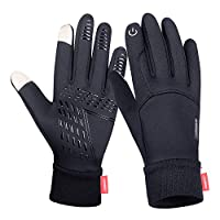Anqier Winter Gloves,Cold Weather Windproof Thermal Touchscreen Gloves Men Women For Cycling Running Outdoor Activities