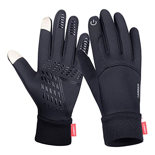 Anqier Winter Gloves,Cold Weather Windproof Thermal Touchscreen Gloves Men Women For Cycling Running Outdoor Activities by Anqier