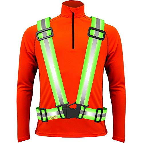 Reflective Vest for High Visibility Day Night. Running Cycling Dog Walking Car Safety Highway Viz Motorcycling Horse Riding Gear. Biking & Runners Safety Accessories Sports Lover Gift Yellow L XL XXL