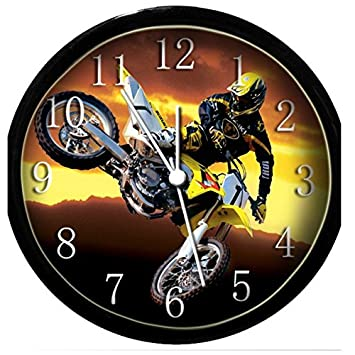 Glow In the Dark Wall Clock – Motocross 2