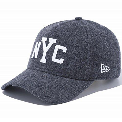 ニューエラ キャップ 帽子 NEW ERA 9FORTY A-Frame メルトン NYC チャコール×ホワイト 11474867 メンズ スナップバック アジャスター