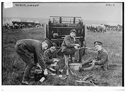 Amazon Com Historicalfindings Photo Recruits Aldershot England