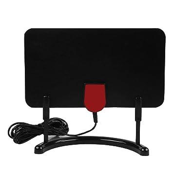 Eboxer ATSC/DVB-T2 Antena Digital HDTV 1080P / 4K para Interiores, Amplificador de Antena HDTV de Interior 1080P / 4K con Soporte de Antenas de TV (Negro): ...