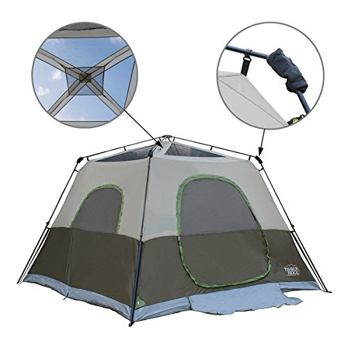 Timber Ridge 6-Person Instant Cabin Tent With Rainfly  sc 1 st  C&ing Companion & Timber Ridge 6-Person Instant Cabin Tent With Rainfly - Camping ...