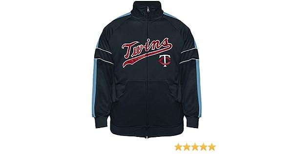 VF Minnesota Twins MLB Mens Cooperstown Majestic Field Track Jacket Navy Blue Big & Tall Sizes