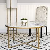 round living room table marble best choice products 35in modern living room round accent side coffee table wmetal frame amazoncom tables tables home kitchen