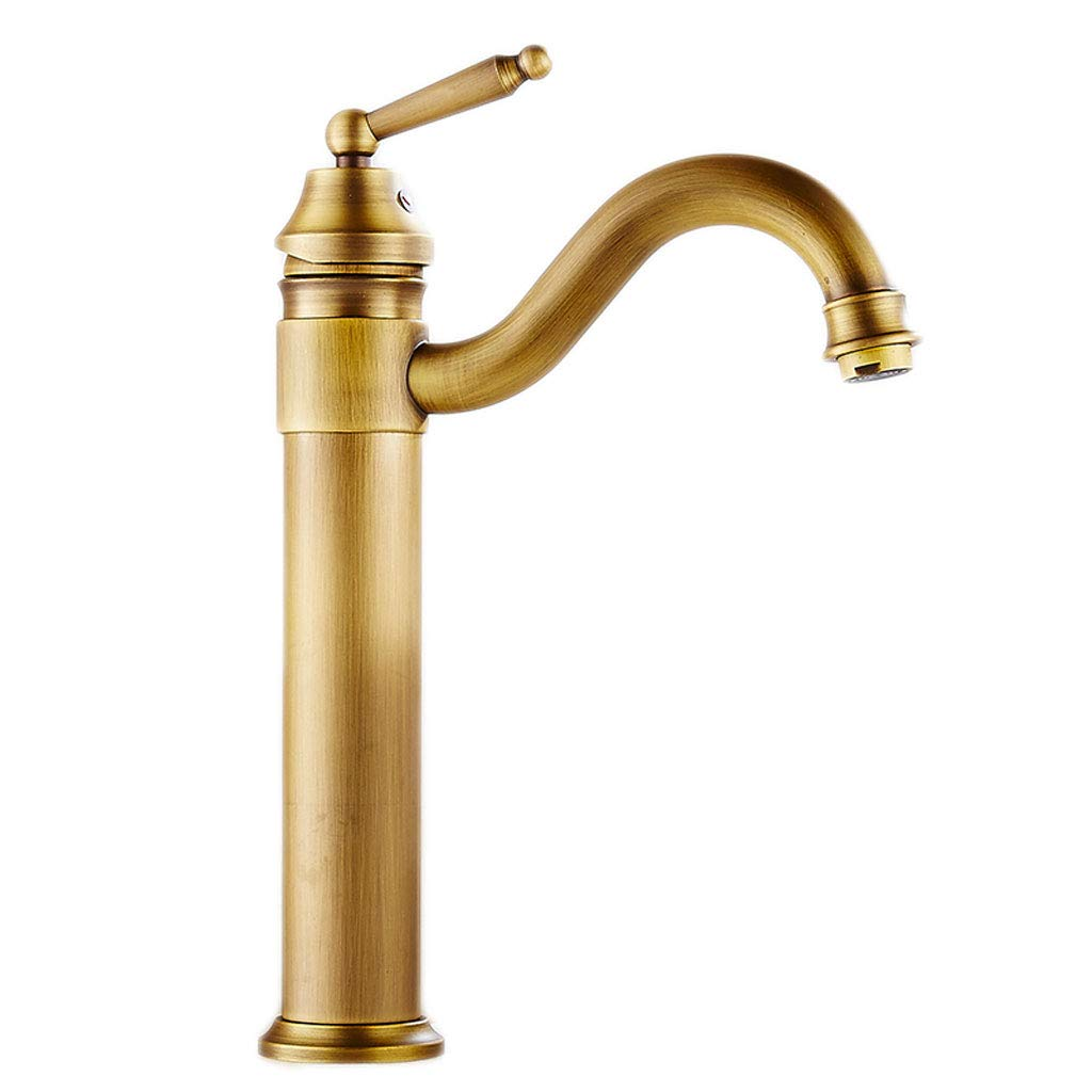 I Antique Faucet Hot And Cold Retro Copper European Bronze Washbasin Washbasin Washbasin Faucet Household Washbasin (color   B)