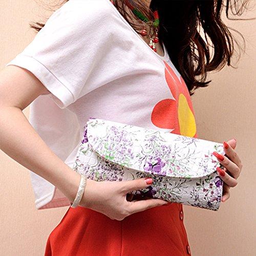 Dooppa - Bolso bandolera Mujer flor morada