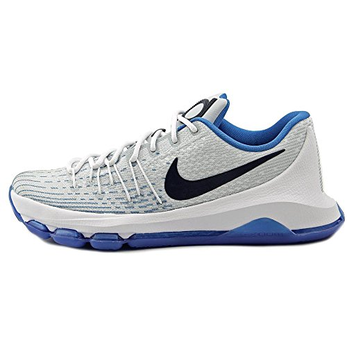 Nike Blue White Midnight Blanco Azul Multicolore Basket da photo Scarpe Navy KD Uomo 8 1xOrqaw1