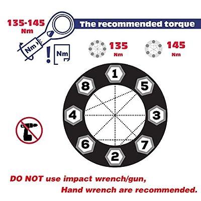 KSP 9/16 Lug Nuts, 32x Black aftermarket Lug Nuts,7-Spline Closed end Bulge Acorn/conical/Cone Seat,2