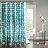 """Intelligent Design ID70-508 Lita Shower Curtain 72x72"""" Aqua,72x72"""""""