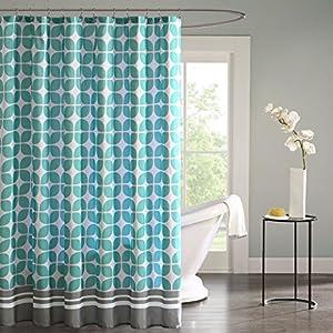 Intelligent Design ID70 508 Lita Shower Curtain 72x72 Aqua72x72