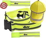Reflective Belt Combo 2x Reflection Bands + Reflector Belt + Hi Vis Baseball Cap | High Visibility for Running, Cycling, Walking, Biking | Adjustable & Lightweight Safety Gear by Mr Visibility
