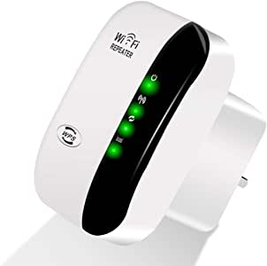 300Mbps WiFi Range Extender Wireless-N Repeater WiFi Booster Network Adapter Enhance Signal Strength Access Point Full Signal Coverage Repeater/AP Modes Comply 802.11 b/g/n with WPS(AU Plug)