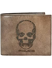 Mens Genuine Leather Slim Credit Card Wallet with Currency Compartment
