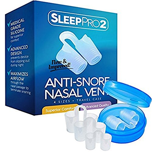 Premium Anti Snore Nose Vents Sleep Aid Device – Stop Snoring Naturally and Instantly - #1 Snore Stopper By SleepPro (Fine Grade Silicone)
