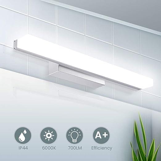 Led Spiegelleuchte 40cm Ip44 Wasserdichte Badleuchte Für Wandbeleuchtung Und Badzimmer Schminklicht Wandleuchte Badlampe 6000k Weißlicht 8w 700lm
