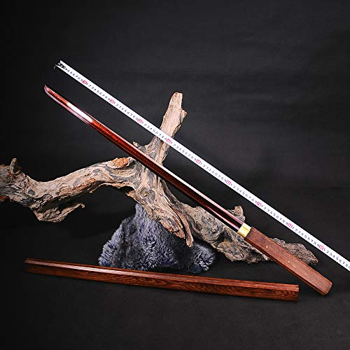 Yongli Sword Full Handmade Katana Japanese Samurai Straight Sword Sharp Edge Red Folded Damascus Steel Blade