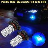 led 5202 fog lights 8000k - Partsam 2pcs 8000K Blue 20W PS24W 5202 High Power SMD Fog Driving Lamp Light