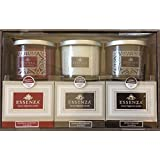 Essenza Luxury Fragrance Candles 3-PC Gift Set (Blackberry Cardamom, Vanilla, Amber Teakwood)