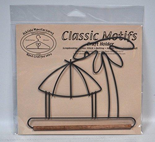 Classic Motifs 6 Inch Tiki Hut Craft Holder With Dowel