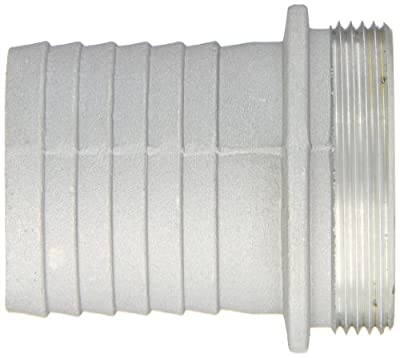 "Dixon Valve MA200 Aluminum Shank/Water Fitting, King Short Shank Suction Coupling with NPSM Thread, 2"" NPSM Male x 2"" Hose ID Barbed"
