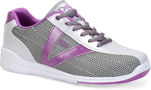 Bowling Shoes - B(M) US, Silver/Grey/Purple, 7 (Dexter Bowling Shoes Women)