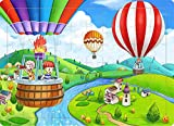 hot air balloon puzzle - Wood Jigsaw Puzzles 60 Pieces for Kids Ages 4-8 Hot Air Balloon