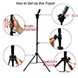 Abody Wig Mannequin Head Tripod Stand with Carry