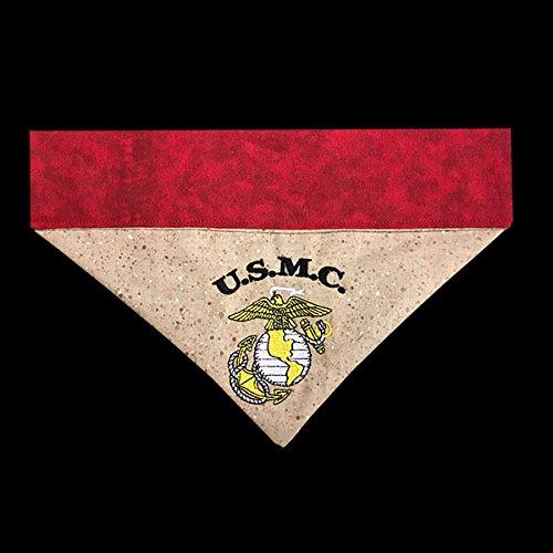 US Marine Corps Dog Bandana / Over the Collar Dog Bandana / Embroidered Personalized Dog Bandana (All Sizes)