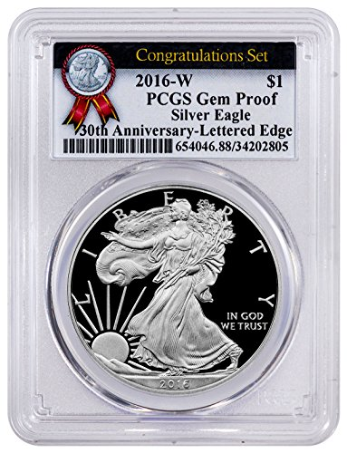 2016 Proof American Silver Eagle Congratulations Set $1 GEM Proof PCGS