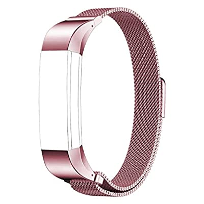 Fitbit Alta Band, PUGO TOP Magnetic Lock Milanese Loop Stainless Steel Metal Band for Fitbit Alta Fitness Tracker