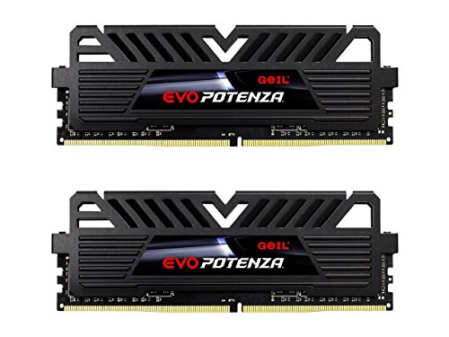 Evo Memory Desktop (GeIL EVO Potenza AMD 16GB (2 x 8GB) 288-Pin DDR4 SDRAM DDR4 2400 (PC4 19200) Desktop Memory Model GAPB416GB2400C16DC)