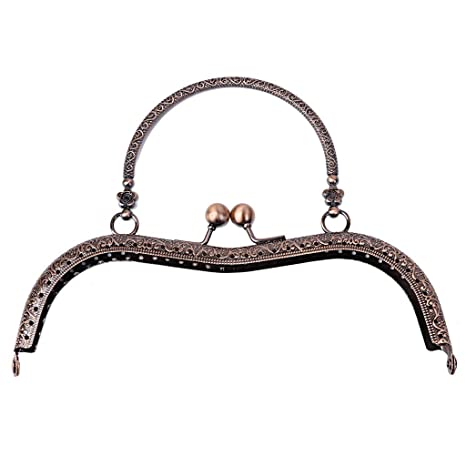 Baoyl - Monedero de metal con diseño de flores y cierre de ...