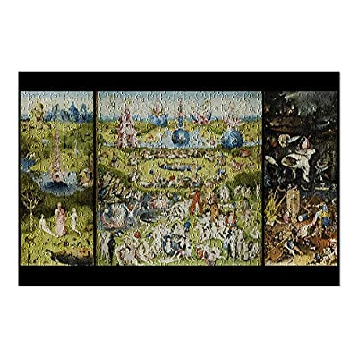 The Garden of Earthly Delights - (Artist: Hieronymus Bosch c. 1480) - Masterpiece Classic (Premium 500 Piece Jigsaw Puzzle for Adults, 13x19, Made in USA!): Toys & Games