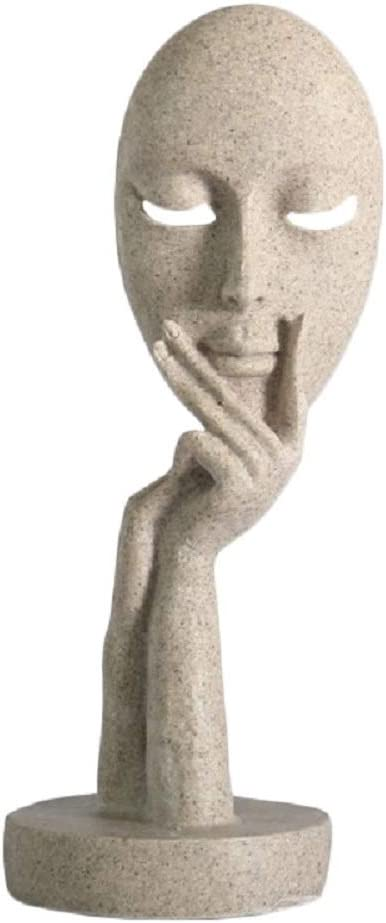 Amazon Com Modern And Simple Woman Figure Figurine Face Statues Hand Sculptures Home Decor Sand Home Kitchen