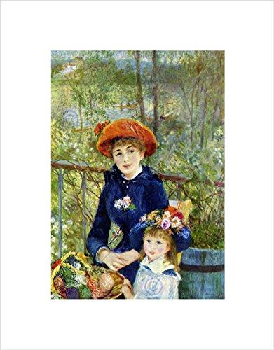 Renoir ON Terrace Old Master Black Framed Art Print ()