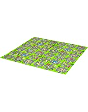 Qaba Kids Foam Puzzle Floor Tiles Baby Toddler Play Mat 36Pcs w/ 24 Side Mat Anti-Slip Crawling Learning with End Border Playground Pattern 35SqFt EVA