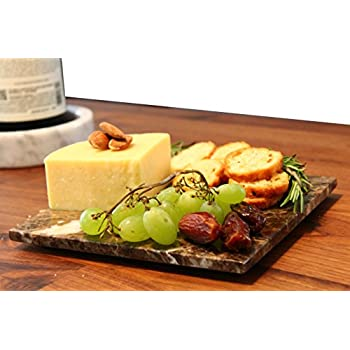 Amazon Com Brown Marble Cheese Board Works As A Small