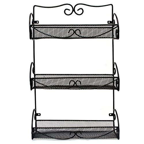 Sorbus® Spice Rack and Multi-Purpose Organizer – 3 Tier Wall Mounted Storage Rack by Sorbus