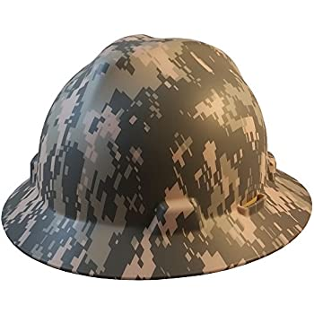 MSA Full BrimPatriotic Hard Hat w/ ACU Camouflage Pattern - One Touch Suspension