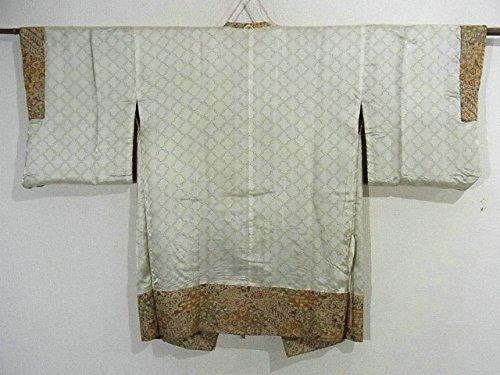 リサイクル 道行コート 裂取りに唐草唐花 伝統文様 裄65.5cm 身丈88cm