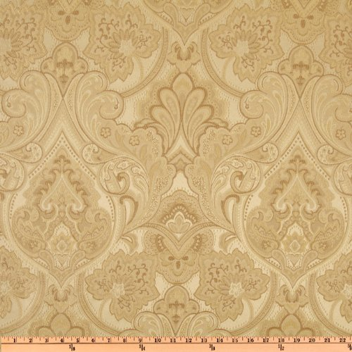 Eroica Enterprises UL-819 Eroica Hollyhock Damask Jacquard Pearl Fabric by the Yard