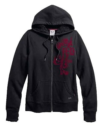 7c7ee1d72 Amazon.com: Harley-Davidson Women's Sherpa Fleece Lined Zip Hoodie ...