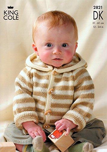 King Cole Baby Raglan Sweaters & Jackets Big Value Knitting Pattern 2821 DK