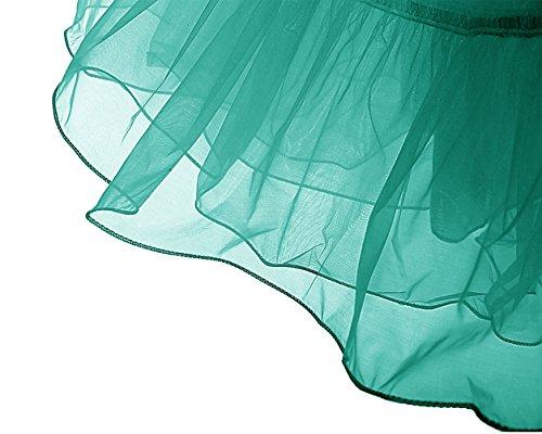 Années Vintage Longueur Dresstells 50 Vert Tulle Foncé Jupon En 67cm Rockabilly Petticoat 1JTluFK5c3