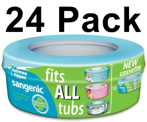 24 X Tommee Tippee Sangenic Nappy Disposal System Refills Bags Cassettes Pack Best Quality Fast Shipping Ship Worldwide