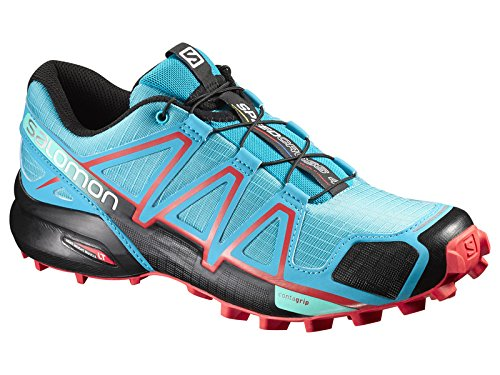 Salomon Womens Speedcross 4 Scarpe Da Trail Running E Ricambio Quicklace Bundle Blue Jay / Nero / Infrarosso